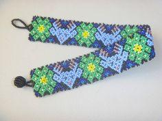 Huichol Bracelet Beaded Peyote Multicolor Mexican Folk Art Handmade   eBay