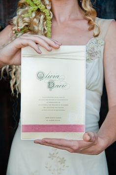 Fairy Tale Tangled Wedding Shoot invitation