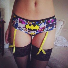 Bat panties with thigh highs... I need this in my life xD