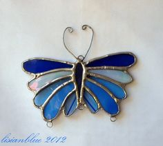 Stained Glass Butterfly Wind Chime
