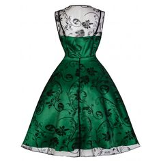 Emerald Green Vintage Cocktail Dress Online | Emerald Green