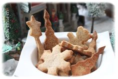 Biscuits allemands de Noël (Thermomix ou pas ) Gingerbread Cookies, Stuffed Mushrooms, Passion, Vegetables, Spritz Cookies, Candy Bars, Kitchens, Flat Cakes, German Cookies