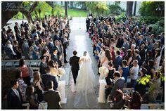 Walking Down the Aisle | Los Angeles Rivers Center Wedding | Elegant Wedding | Cultural Wedding | Southern California Outdoor Wedding Venue | Jessica Van of France Photographers