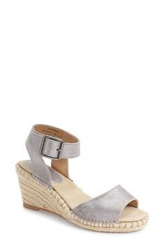 Johnston & Murphy 'Angela' Espadrille Wedge Sandal (Women) available at #Nordstrom