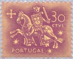 Selos: Knight on horseback (from the seal of King Dinis) (Portugal) (Knight) Mi:PT 764 Miter Saw Table, Rare Stamps, Stamp Collecting, My Stamp, Postage Stamps, Equestrian, Knight, Seal, History