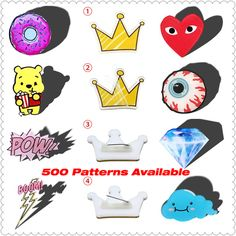 Kawaii Harajuku Icons Pooh Bear Badge Acrylic Brooch For Women/Man Clothes Badge…