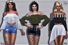 15 Swatches *high poly* New mesh by me HQ Texture 204 All Lods Custom Thumbnail Teen to Elder T. Sims 4 Mods Clothes, Sims 4 Clothing, Free Clothes, Clothing Items, The Sims 4 Pc, My Sims, Sims Cc, Sims Packs, Sims4 Clothes