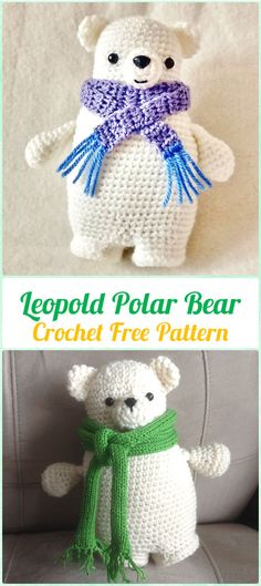 Amigurumi Crochet Leopold Polar Bear Free Pattern - Amigurumi Crochet Teddy Bear Toys Free Patterns