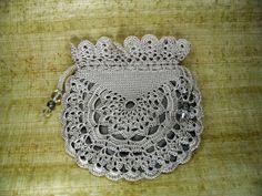 Victorian vintage crochet bag