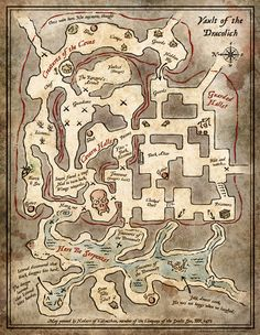 Vault of the Dracolich Handout Map (Digital)