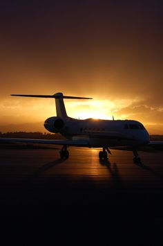Sunsets are better when there's a jet involved :)