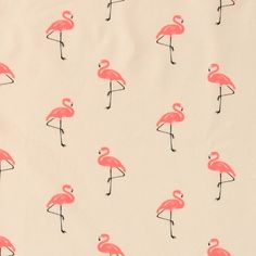 Stretch jersey natur med flamingo