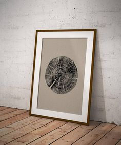 Organic Tree Ring Poster A2 printed on 130gsm Recycled Cairn