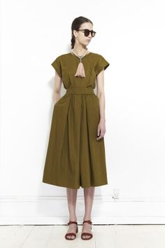 cc92ed9d1fe blueberrymodern  kowtow top and culottes with cave collective... Green  Fashion