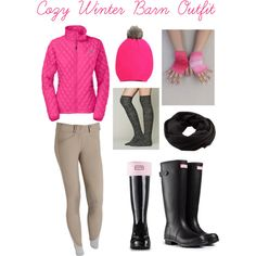 """""""Cozy Winter Barn Outfit"""" by the-girl-with-the-horse on Polyvore"""