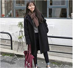 """Universe of goods - Buy """"Winter Women Casual Coat Fashion Female Pockets Jackets Large Size Long Woolen Womens Outerwear Females Overcoat Korean Style"""" for only USD. Winter Coats Women, Coats For Women, Clothes For Women, Mode Mantel, Langer Mantel, Style Casual, Korean Outfits, Outerwear Women, Asian Fashion"""