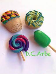 imanes para refrigerador DE ARCILLA POLIMERICA - Pasta Fimo, Fantasy World, Icing, Polymer Clay, Diy Crafts, Toys, Desserts, Ideas Para, Google