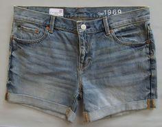 "GAP Sexy Boyfriend Denim Shorts 27 4 Calvind Light Blue Cotton Jean 4.5"" 2014 #GAP #Denim"