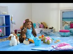Setting up American Girl Doll House with furniture and Dolls! HD WATCH IN HD! - YouTube