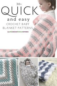There are many crochet charities that are always looking for baby blankets to give to those in need. Use these quick and easy crochet patterns to make many baby blankets to donate to these wonderful organizations.
