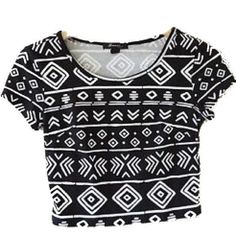 Forever 21 Tribal Crop Top No stains or tears Forever 21 Tops Crop Tops