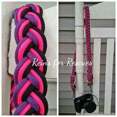 Hot Pink, Purple & Black Adjustable Camera Strap