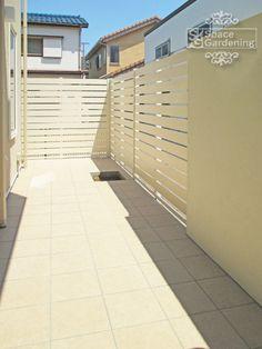 庭 テラス タイル 目隠し フェンス 樹脂 エクスタイル アーバンフェンス