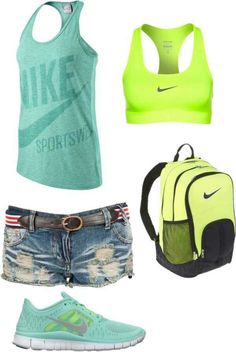 Cute casual Nike outfit...