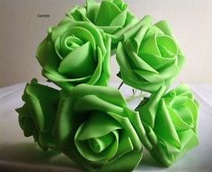 72 ARTIFICIAL FOAM ROSES ON LONG STEM WEDDING FLOWERS CRAFT CORSAGE CAKE/6.7CM…