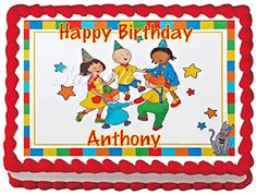 Caillou 2 Edible Frosting Sheet Cake Topper  14 Sheet * Click on the image for additional details.