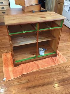 If you've ever sanded Chalk Paint by Annie Sloan then you know what a mess it creates and is only suited to working outdoors. However, the good news is that if… Oak China Cabinet, Vintage China Cabinets, Painted China Cabinets, Old Cabinets, Chalk Paint Chairs, Painted Chairs, Painted Furniture, Refurbished Furniture, China Hutch Makeover