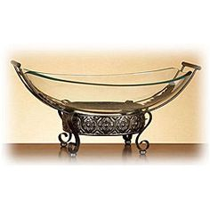 ancient greek inspired glass bowl with ornamental stand overstock shopping great deals on - Decorative Glass Bowls