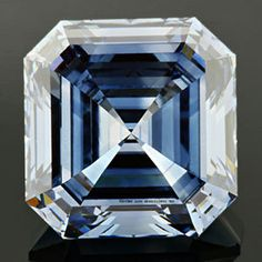 Fancy deep blue asscher cut created diamond