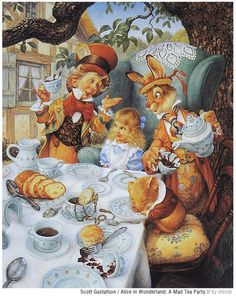 Scott Gustafson ~ Alice's Tea Party