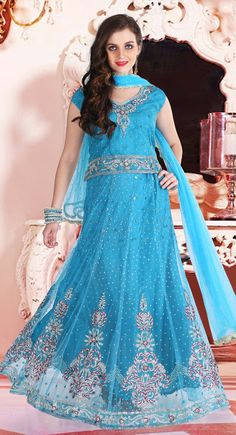 Effective Maya Blue #Lehenga_Choli