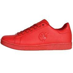 Oferta: 22.96€. Comprar Ofertas de Kenley para hombre Santa Monica Polo Club Zapatillas New cordones zapatos calzado deportivo, color rojo, talla 41 EU barato. ¡Mira las ofertas!