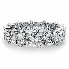 Pear Eternity Band for my wedding band
