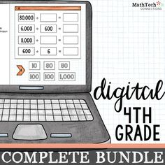 4th Grade Math Centers Digital Slides for use with Google