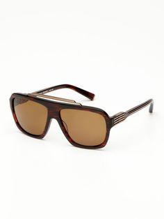 44ff474a7a3f Duke Aviator Sunglasses by Morgenthal Frederics at Gilt
