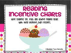 Use this customizable reading incentive chart and log to track your students' reading success during the month, quarter, or year. 4th Grade Reading, Kids Reading, Guided Reading, Reading Counts, Sundae Party, Read A Thon, Reading Incentives, Classroom Organization, Classroom Management