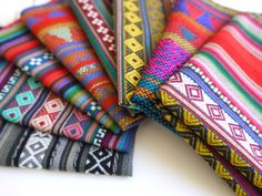 South American Fabric Peruvian Fabric Woven pack by sweetllamasupplies