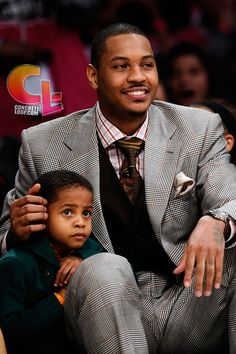 NBA Basketball star Carmelo Anthony, genuine father, son moments move me