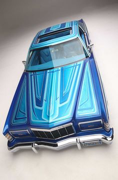 When Rudy Sandoval started work on his 1973 Ford LTD he knew he was in for a challenge. Car Paint Jobs, Custom Paint Jobs, Custom Cars, Lowrider Model Cars, Lowrider Art, Ford Ltd, Old American Cars, Old School Cars, Car Colors