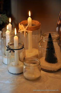 Home Decor ideas &Home Garden & Diy Love Decorations, Christmas Decorations, Cozy Christmas, Christmas Time, Advent Wreath, Bottle Crafts, Diy Projects To Try, Holiday Crafts, Tea Lights