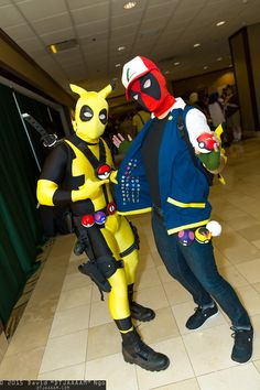 Deadpool+pokemon There are several problems with this. Deadpool Pikachu, Deadpool Funny, Deadpool Cosplay, Pokemon Cosplay, Superhero Cosplay, Epic Cosplay, Amazing Cosplay, Anime Cosplay, Cosplay Ideas
