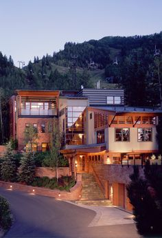 Dream house Mitchell Residence - modern - exterior - other metro - by Poss Architecture + Planning + Interior Design Houses Architecture, Architecture Design, Beautiful Architecture, Style At Home, Modern Exterior, Exterior Design, Exterior Trim, Mountain Homes, Aspen Mountain