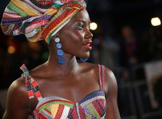 Lupita Nyong'o from The Big Picture: Today's Hot Pics  Rainbow rouser! The actress looks stunning at the premiere of the film 'Queen of Katwe' during the London Film Festival.
