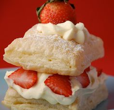 White Chocolate Strawberry Napoleons