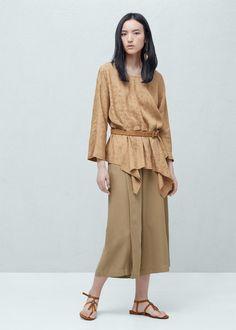 Jacquard flowy blouse
