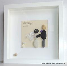 Wedding pebble art